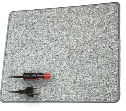 Paroli Heizteppich grau 60 x 100 cm 12V/ 70 Watt