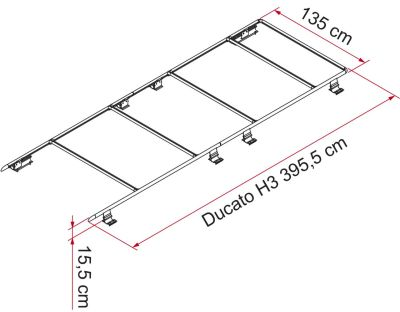 Dachreling Roof Rail Ducato H3