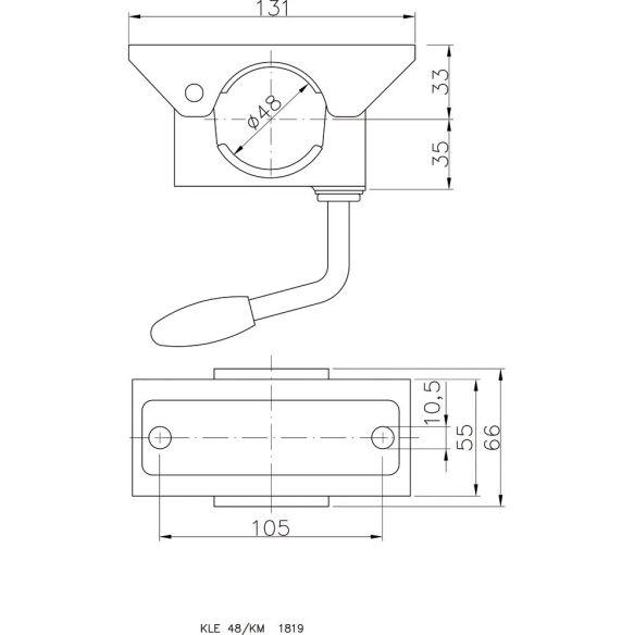 klemmhalter f r rohr 48 mm. Black Bedroom Furniture Sets. Home Design Ideas
